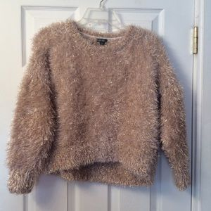 tinsel sweater.